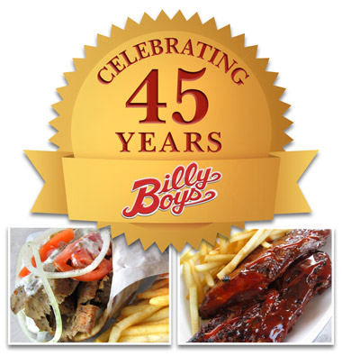 Billy Boy's Restaurant celebrating 45 years